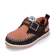 Buckle strap cheap and lovely children leather school shoes fashion tideway