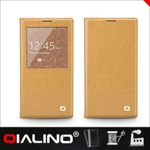 QIALINO Super Quality Custom Printing Ufo Leather Case For Samsung For Galaxy Note3