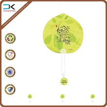 Promotion customized printing fan with clear handle