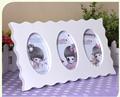 3 rodada branco combinação presente de madeira picture frame foto