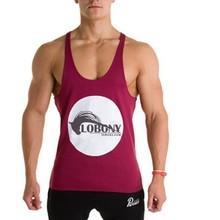 Newest Design Custom Logo Printed Gym Mens Stringer Tank Top