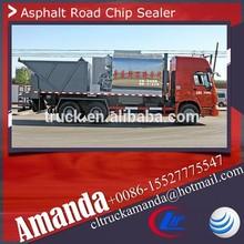 Heavy 6*4 asphalt mixer truck, Howo 300hp 8m3 asphalt slurry seal machine