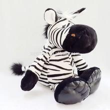 CE EN71 plush toy animal zebra / white and black strip wildlife zebra stuffed toy