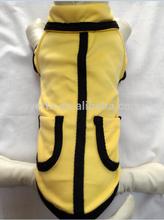 100% Cotton Spring/Summer Yellow pocket T-shirt dog clothes