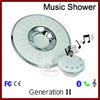 led music shower head for plastic chromed finished