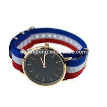 daniel wellington watches , High quality stitching nylon ribbon band watches