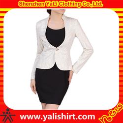 Elegant custom plus size lace design ladies suits, formal suits for women