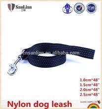 Nylon dog leash safety glow at night