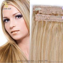 2015 Best Selling!!! Convenient Wear Easy Care Top quality High grade halo Hair Extensions #613 Light Blonde