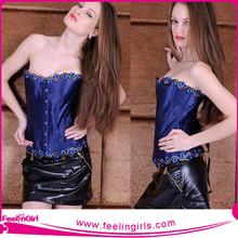 Best Selling Sexy sexy blue corset garter