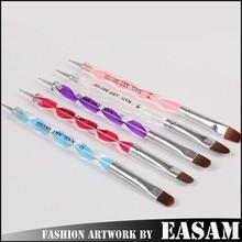 5 PCS Acrylic Handle Two Way Use Nail Art Brush Dotting Pen