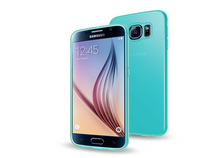 2015 Hot selling Colorful TPU Transparent Silicom Silicon Gel case cover for Galaxy S6 - Green
