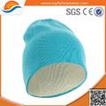 Venta al por mayor de encargo 100% acrílico gorrita sombreros de invierno