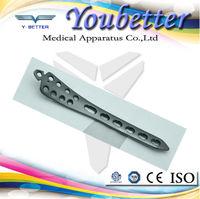 Distal Tibial Medial Locking Plate. AO Type. titanium orthopedic implant and orthopedic instrument
