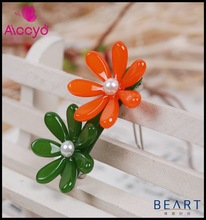Cellulose Acetate Flower Hair Accessory Extension Hair Clip