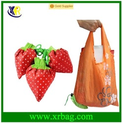 Top quality foldable cheap strawberry shopping bag