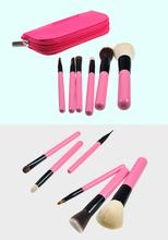 Hot sell! wholesale high quality peach china makeup brush set 6PCS