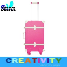 wholesale travel luggage universal car style trunk/suitcase with 2 or 4 wheels pure handmade perfect workmanship