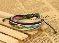 new design best friend handmade Waxed String Bracelet for girls