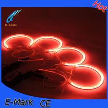 B-DEALS car accessories E36 E38 E39 E46 projector ccfl angel eyes,super power red ccfl angel eyes ring light for bmw