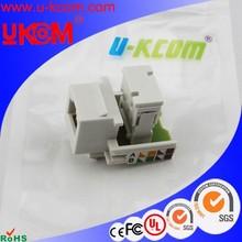Mde in China Cat3 rj11 telephone keystone jack