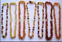 2015 wholesale baltic amber teething bady necklace