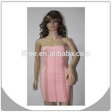 pink office design for women strapless dress bandage dresses 2015