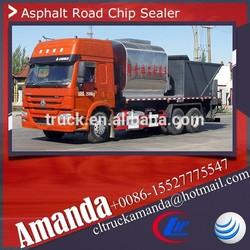 Heavy 6*4 asphalt sealer spray truck, Howo 300hp 8000L asphalt penetration macadam chip sealer