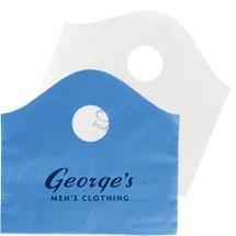OEM Cheap Wave Top Colorful D cut Plastic Shopping Bag