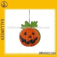 Orange paper pumpkin decorations for halloween