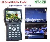 DIHAO Tech KPT-955H Latest 4.3 inch DVB-S2/mpeg4 hd satfinder meter KPT-955H digital satellie finder