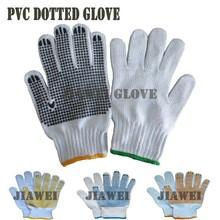 Cotton Poly Glove With PVC Dots PVC Dotted Cotton Glove Cotton Work Glove/Guantes De Algodon 011