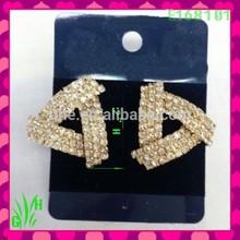 The latest design Beautiful big drop ornament earrings,earrings for non pierced ears