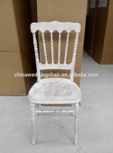 hotsale wooden white wash/ limewash napoleon chair