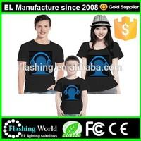 High quality sound active tshirt el equalizer shirt t shirt design