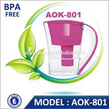 BPA free alkaline water purifier jug OEM/ODM Life indiacator