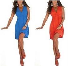 Fancy Women's Sleeveless Summer Sun Dresses China Wholesale