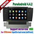 """Android 4.4 desteği dikiz kamera 7"""" dokunmatik ekran araba dvd multimedya oynatıcı gps navigasyon citroen C4L"""