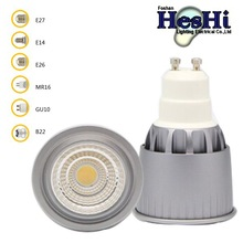 LED Spot Light COB-E 5W E26/GO10/MR16with Aluminum Cover High Quality Energy Saving