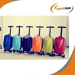 cute kids luggage, 4 wheel hard plastic kids luggage, quality luggage