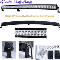 4x4 accessories C.R.E.E. 288W 50 inch Curved led light bar CURVED radius led light bar for Jeep Wrangler , led light bar offroad
