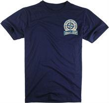 100% cotton o-neck or v-neck short sleeve mens spandex turtleneck shirt