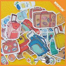 Charming adorable plastic customized kids cartoon sticker