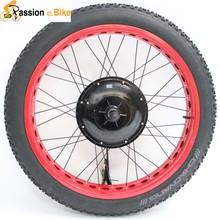48V 1500W Brushless Gearless Motor 26'' Electric Beach Bike Hub Motor Wheel For Fat Tire Bike