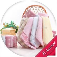 Zero Twist 100% Cotton 25*25cm Square Face Towel Jacquard