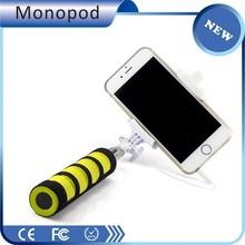 Alibaba express china selfie stick with cable Z07-5S , wholesale mini mono pod
