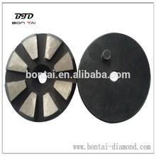 3inch metal bond eight segemnts diamond grinding abrasive disc for concrete