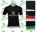 2015 nova camisa da equipe nacional preto 100% poliéster top qualidade tailandesa futebol jersey por atacado