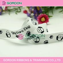"dog printed grosgrain ribbon,dogs printed ribbon,5/8"" printed grosgrain ribbon"