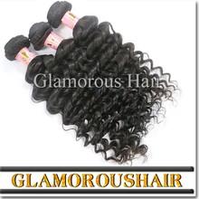 100 mongolian deep wave /cheap remy human hair weaving/deep wave human hair for braiding